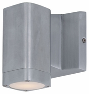 Maxim 86108AL Lightray LED Modern Brushed Aluminum Finish 4  Wide Exterior Light Sconce