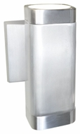 Maxim 86109AL Lightray LED Modern Brushed Aluminum Finish 4  Wide Exterior Lamp Sconce