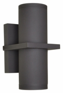 Maxim 86117ABZ Lightray LED Contemporary Architectural Bronze Finish 12.5  Tall Outdoor Wall Light Sconce