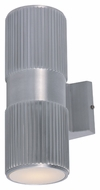 Maxim 86123AL Lightray LED Modern Brushed Aluminum Finish 4  Wide Exterior Wall Lamp