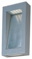 Maxim 88262PL Cove Modern Platinum Finish 14  Tall LED Exterior Wall Light Sconce