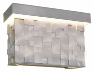 Maxim 88285AL Mosaic Modern Brushed Aluminum Finish 6.25  Tall LED Exterior Light Sconce