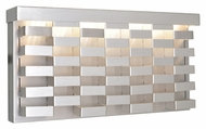 Maxim 88292AL Weave Contemporary Brushed Aluminum Finish 12.5  Wide LED Outdoor Lighting Sconce