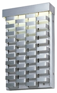 Maxim 88293AL Weave Modern Brushed Aluminum Finish 12  Tall LED Exterior Lamp Sconce