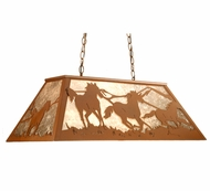 Meyda Tiffany 107887 Wild Horses Country Rust Finish 44  Tall Kitchen Island Lighting