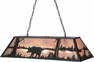 Meyda Tiffany 110854 Bear at Lake Rustic Black / Silver Mica Island Lighting
