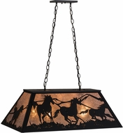 Meyda Tiffany 115349 Wild Horses Rustic Black / Silver Mica Island Lighting