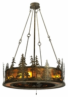 Meyda Tiffany 115859 Tall Pines Country 62  Tall Chandelier Lighting