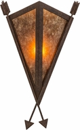 Meyda Tiffany 116062 Desert Arrow Rusty Nail / Amber Mica Wall Sconce Lighting