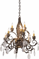 Meyda Tiffany 116318 New Country French French Bronze Chandelier Light