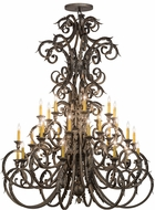 Meyda Tiffany 116521 Serratina Rustic French Bronze Ceiling Chandelier