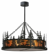 Meyda Tiffany 116636 Tall Pines Rustic Black Finish 40  Tall Lighting Chandelier