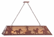 Meyda Tiffany 118368 Wild Horses Rustic Rust Finish 61  Wide Island Light Fixture