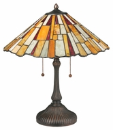 Meyda Tiffany 120600 Jadestone Delta Tiffany 21  Wide Table Lighting