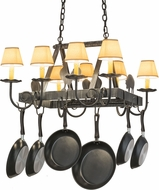 Meyda Tiffany 120772 Barn Animals Antique Iron Gate Island Lighting Pot Rack