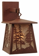 Meyda Tiffany 121598 Stillwater Tall Pine Trees Rust Finish 7  Wide Outdoor Wall Lighting Fixture