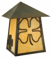 Meyda Tiffany 126268 Stillwater Shamrock Craftsman 10.5  Tall Exterior Wall Light Sconce