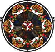 Meyda Tiffany 127106 Middleton Medallion Tiffany Patina Stained Glass Window