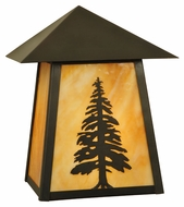 Meyda Tiffany 129502 Stillwater Tall Pine 10.5  Tall Outdoor Wall Lighting
