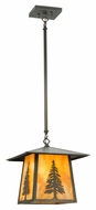 Meyda Tiffany 129504 Stillwater Tall Pine 12  Wide Exterior Mini Hanging Lamp