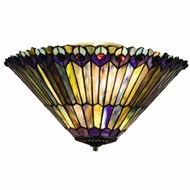 Meyda Tiffany 13251 Tiffany Jeweled Peacock Tiffany 10  Tall Light Sconce