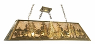 Meyda Tiffany 13254 Tall Pines Rustic Antique Copper Finish 48  Wide Kitchen Island Light Fixture