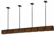 Meyda Tiffany 135128 Giradeau Wood Beam Modern Oil Rubbed Bronze Halogen Kitchen Island Lighting