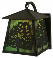 Meyda Tiffany 137693 Stillwater Oak Tree 10.5  Tall Exterior Lighting Sconce