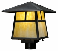 Meyda Tiffany 138052 Stillwater T Mission Craftsman 11  Tall Exterior Lamp Post Light Fixture