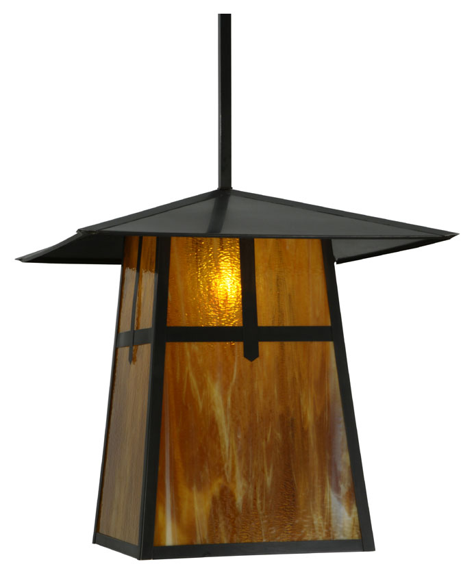 mission craftsman 24 wide outdoor pendant light fixture mey 138217