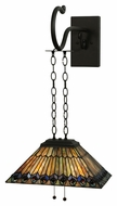 Meyda Tiffany 138560 Tiffany Jeweled Peacock Tiffany 16  Wide Wall Sconce Lighting