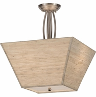 Meyda Tiffany 142378 Cesta Brushed Nickel Ceiling Lighting Fixture