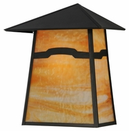 Meyda Tiffany 142728 Stillwater Mountain View Craftsman 16  Wide Exterior Lighting Wall Sconce