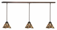Meyda Tiffany 143190 Jadestone Delta Tiffany Mahogany Bronze Finish 51  Wide Island Lighting
