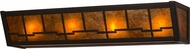 Meyda Tiffany 14327 Bungalow Mission Timeless Bronze / Amber Mica Wall Lamp