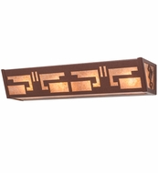 Meyda Tiffany 14403 Southwest Craftsman Rust/Silver Mica Lamp Sconce