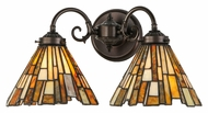 Meyda Tiffany 144826 Jadestone Delta Tiffany 17  Wide Wall Sconce Light
