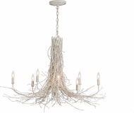 Meyda Tiffany 145100 Twigs Country White Chandelier Light