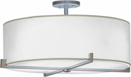 Meyda Tiffany 145105 Cilindro Structure Brushed Nickel Fluorescent Flush Mount Light Fixture