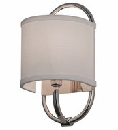 Meyda Tiffany 145701 Cilindro Alta Polished Nickel Wall Sconce Lighting