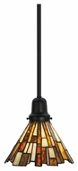 Meyda Tiffany 145877 Jadestone Delta Tiffany Solar Black Powdercoat Finish 8  Wide Flush Lighting