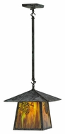 Meyda Tiffany 146360 Stillwater Winter Pine 17  Wide Outdoor Hanging Pendant Light