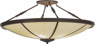 Meyda Tiffany 146505 Commerce Cafe Noir / Honey Onyx Acrylic Overhead Light Fixture