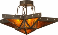 Meyda Tiffany 146797 Star Modern Gilded Tobacco / Amber Mica Ceiling Lighting