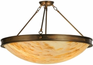 Meyda Tiffany 148961 Dionne Modern Antique Copper / Natural Horn Flush Mount Lighting