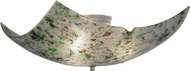 Meyda Tiffany 149824 Metro Fusion Tossalad Modern Green / Purple / Blue Confetti Flush Ceiling Light Fixture