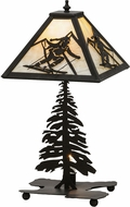 Meyda Tiffany 150136 Alpine Rustic Dark Roast / Ba Lighting Table Lamp