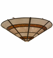 Meyda Tiffany 150352 Kalahari Contemporary Cafe Noir Overhead Light Fixture
