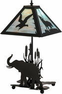 Meyda Tiffany 150573 Wildlife on the Loose Rustic Black / Na Table Lamp Lighting