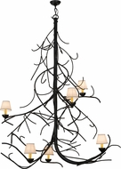 Meyda Tiffany 150694 Winter Solstice Empire Rustic Black Chandelier Light